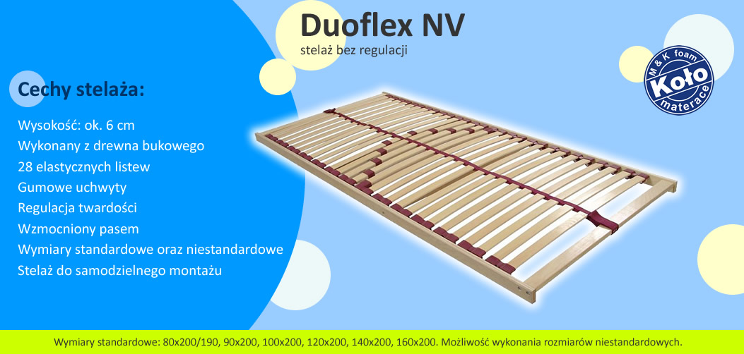 stelaż Duoflex NV (Koło - MK Foam)